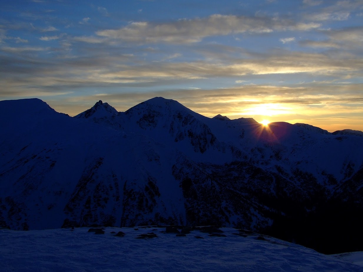 Zachód słońca na Trzydniowiańskim Wierchu