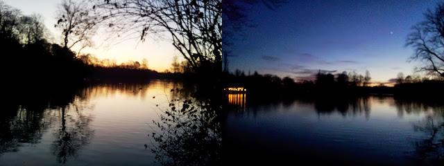 Schwabinger See am Abend.