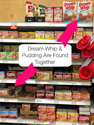 Dream Whip & Pudding are found together at Meijer