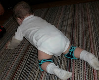 Crawling with Snazzy Baby Knee Pads - Available here