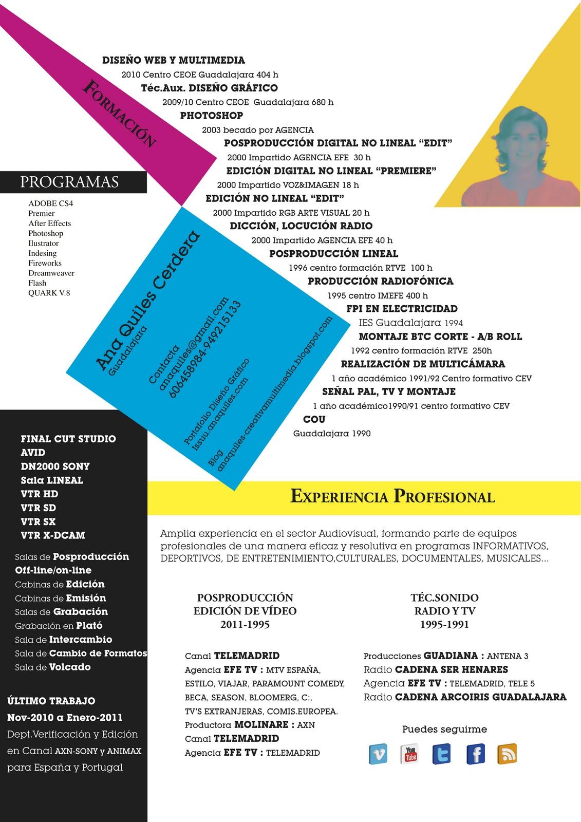 CURRÍCULUM VITAE USANDO REALIDAD AUMENTADA | CREATIVA MULTIMEDIA AQ