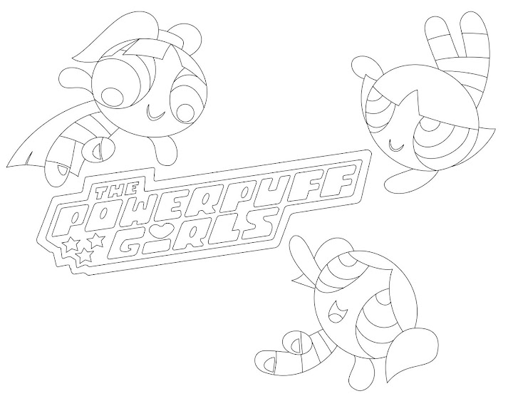 Powerpuff Girls Team Up Coloring Page