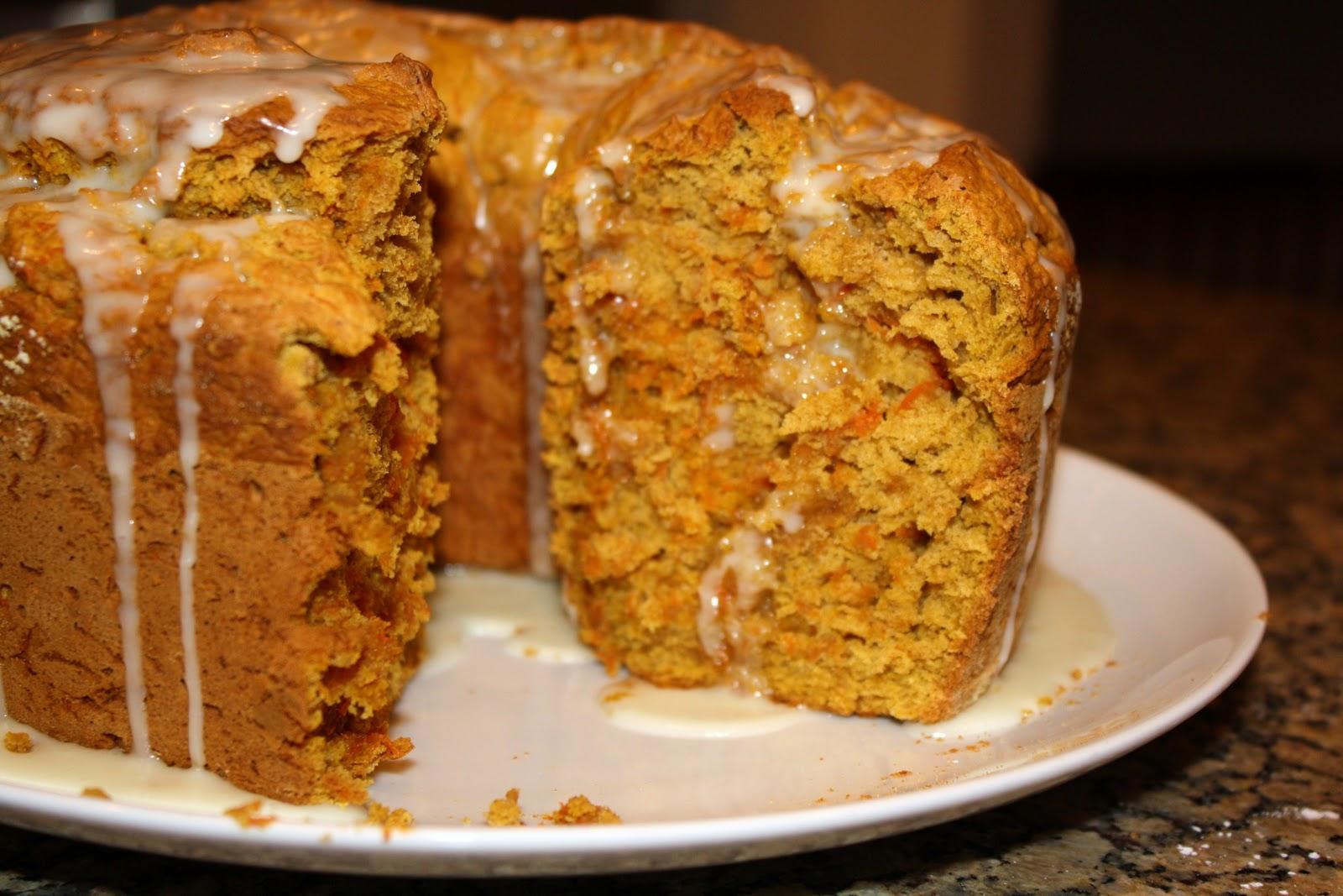 Citrus Glazed Pumpkin Carrot Cake