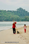 All Resorts and cleaning their beach in the morning