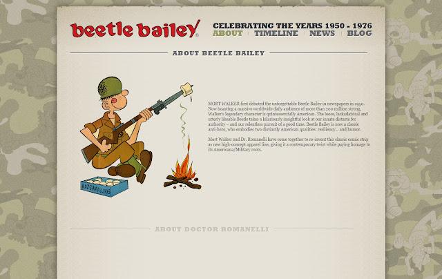 *動態呈現的美國漫畫網站|Beetle Bailey Web Site 2