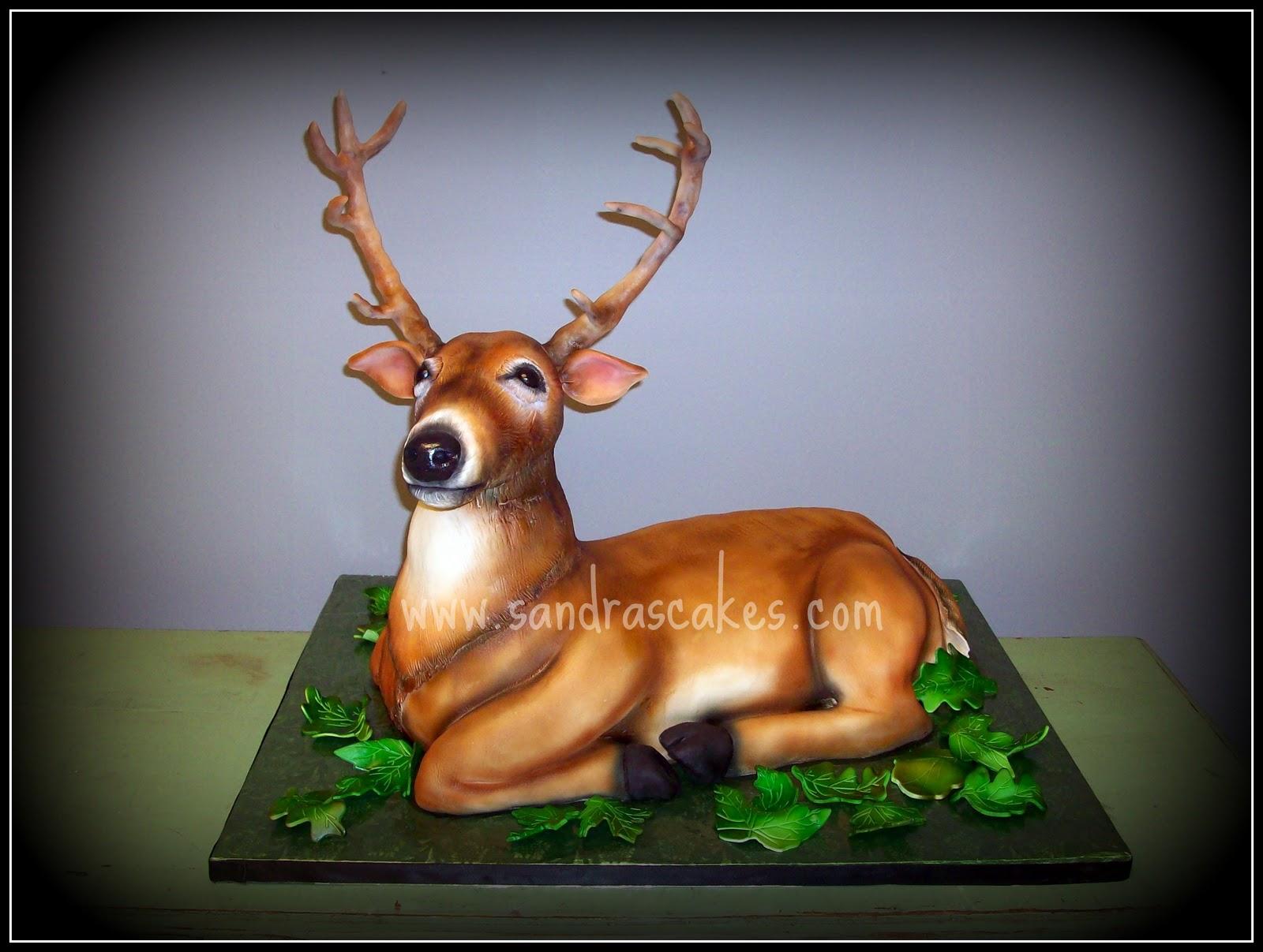 On Birthday Cakes 3d Deer Cake