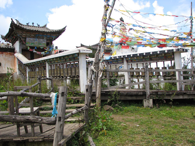 A Tibetan Buddhist Temple in the Yak Meadow, Lijiang, Yuunan, China