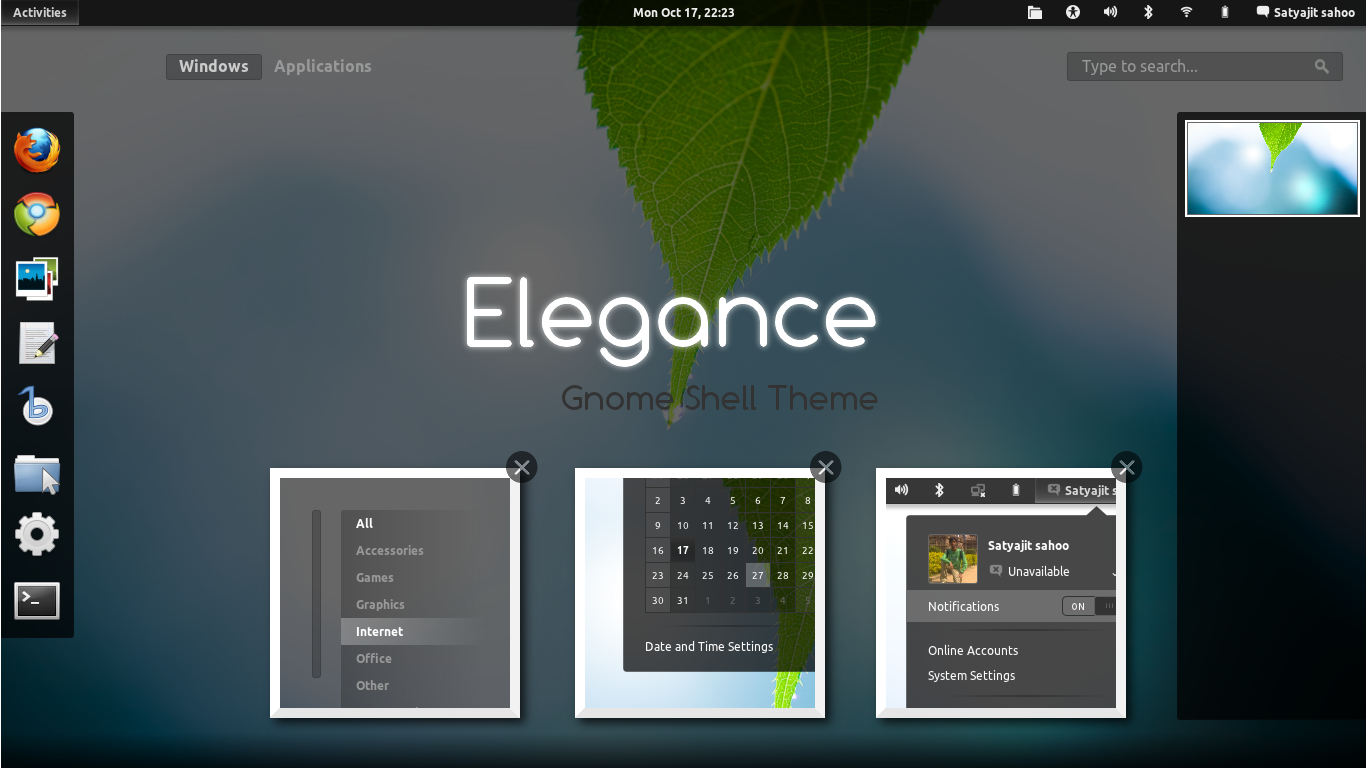 Theme Updates: Ambiance Blue Theme Pack, Elegance GNOME