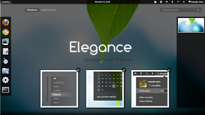 Elegance GNOME Shell theme