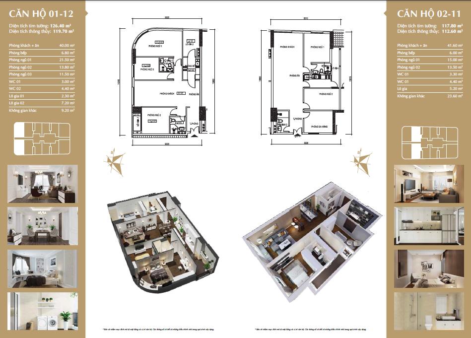 Thiết kế căn hộ 01-12 & 01-11 Chung cư 360 Giải Phóng