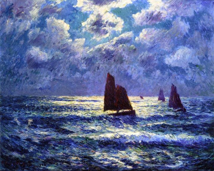Henry Moret - Moonlight, 1909