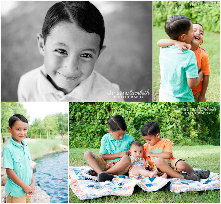 Three brothers who love each other - photos