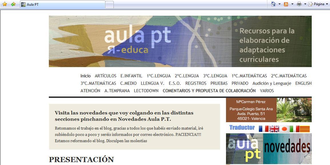 Maestra de Educación Especial.: Blog y Páginas Web educativas ...