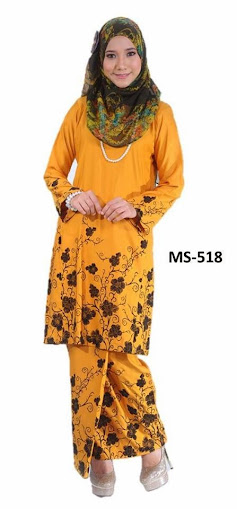 Baju Kurung Pahang Mustard