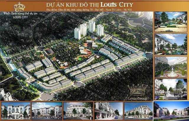 Phối cảnh tổng thể dự án Louis City
