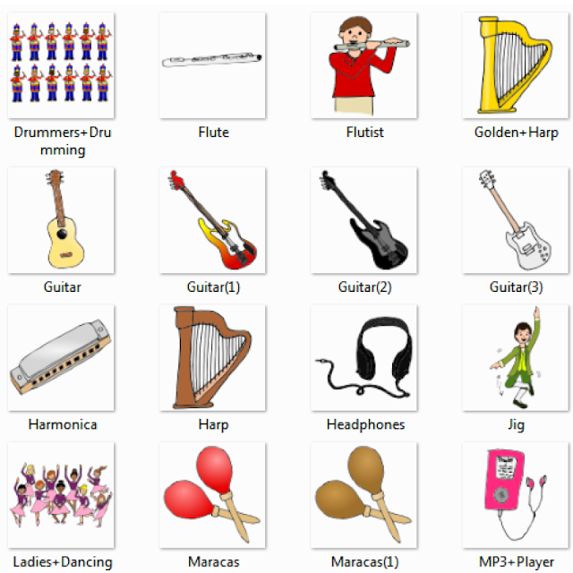 Worksheets 4 Classification Of Musical Instruments musical instruments dictionary for kids drummers flute flutist golden harp guitar harmonica headphones jig ladies dancing maracas mp3 player music pictures for