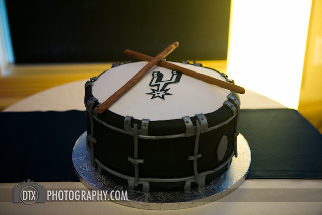 san antonio spurs wedding cake logo snare drum