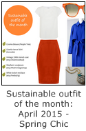 sustainable outfit of the month april 2015 - spring chic orange and blue