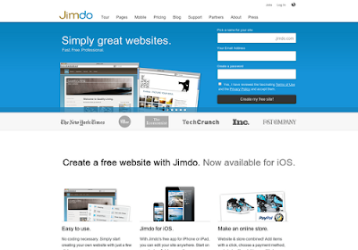 Jimdo.com free online website builders