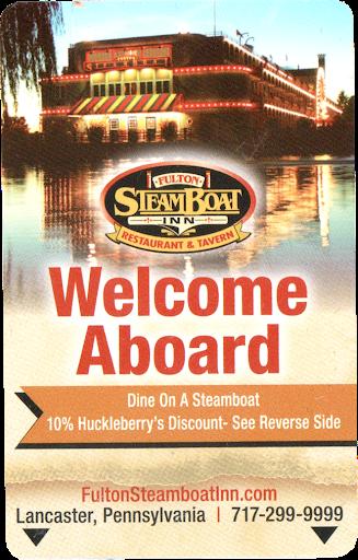 Fulton Steamboat Inn keycard