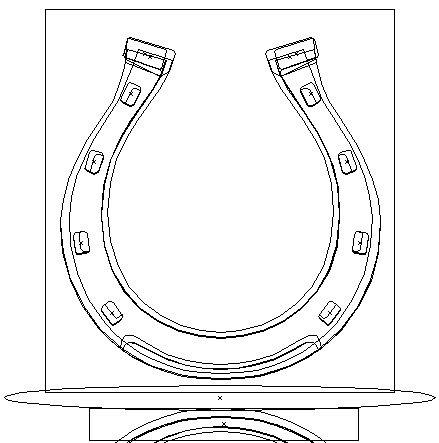 Vector Horseshoe Outline