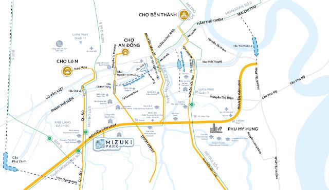Địa điểm Căn hộ Mizuki Park Nam Long