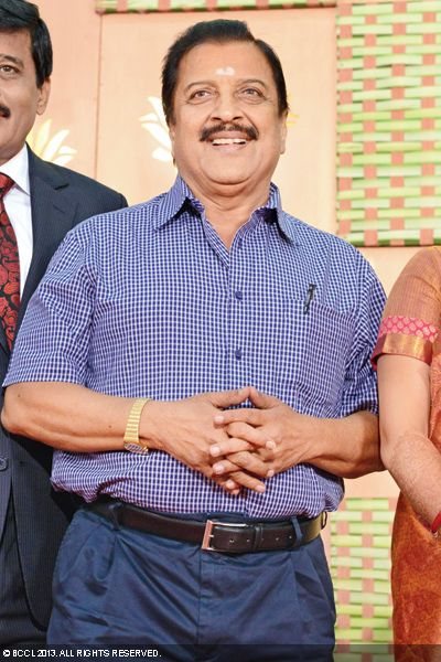 Actor Sivakumar at Kaushik and Urmitapa's wedding ceremony, held in the city recently.