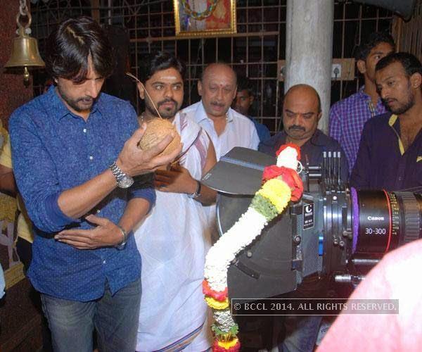 Sudeep during the launch of Attirantiki Daredi remake, in Bangalore.