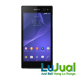 Tampilan Depan Hitam - Sony Xperia C3 Dual Sim | LuJual