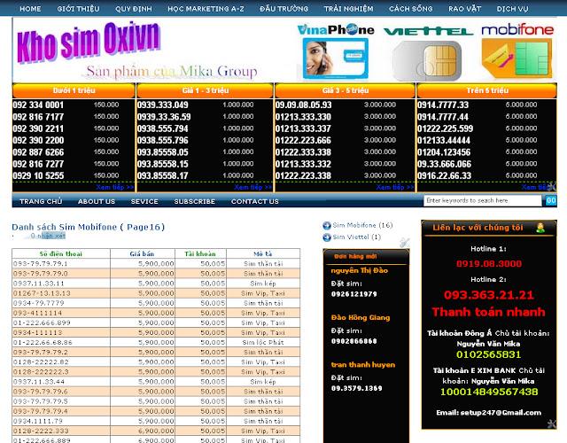 Dự án thiết kế website Bán hàng trực tuyến 02