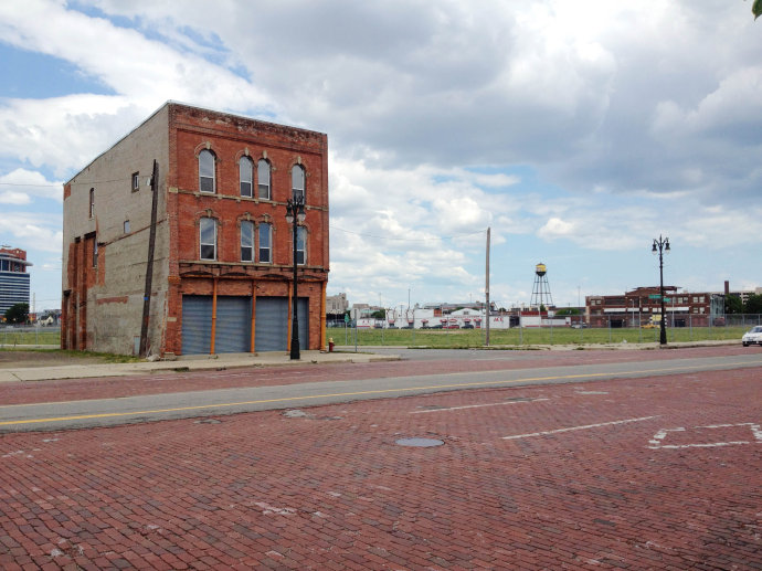 底特律的破旧区