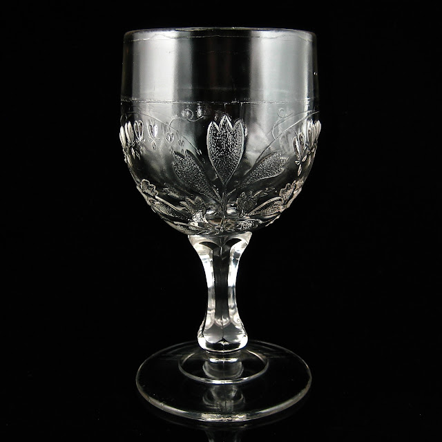 Bleeding Heart Goblet with Knob Stem