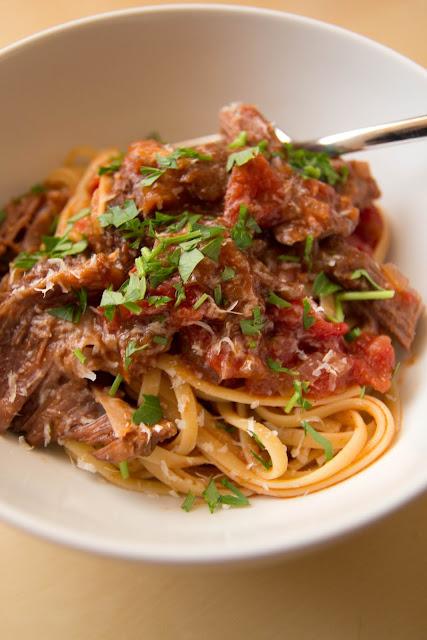Secret Ingredient - Short ribs in tomato sauce