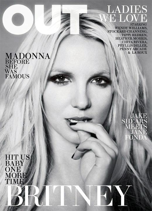 britney spears out magazine cover. The April 2011 of Out magazine