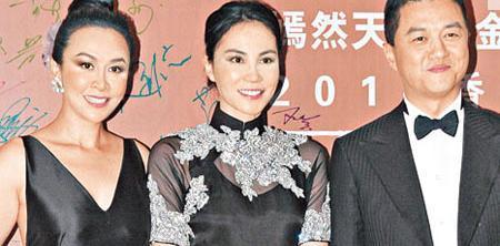 王菲與李亞鵬為基金會舉行慈善晚宴,身為阿菲好友的劉嘉玲(左)又豈會錯過?