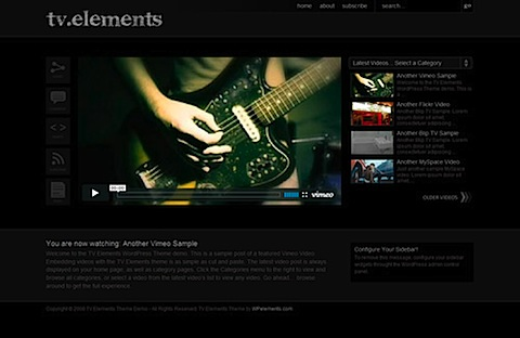 The TV Elements WordPress Theme Demo