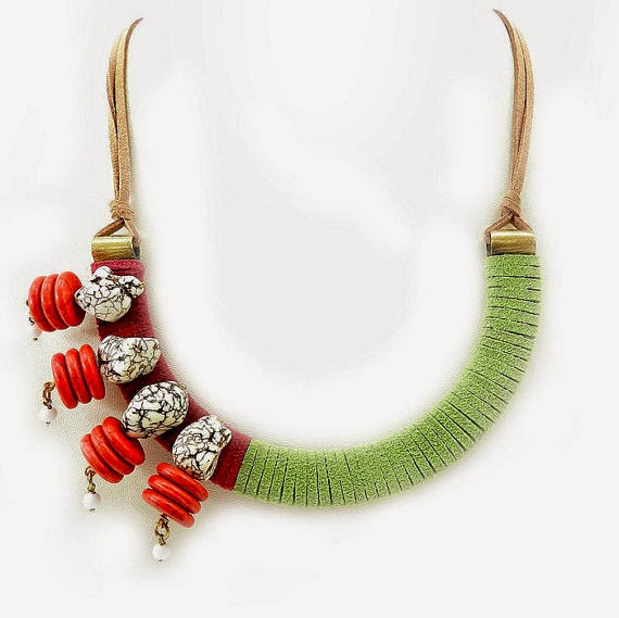Folk Bib Necklace by Osofree Jewellery