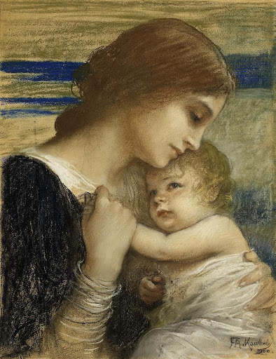 Friedrich August Von Kaulbach - Mother And Child