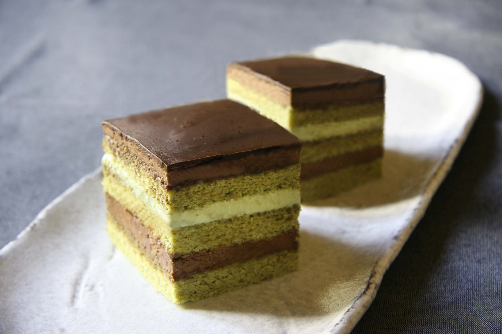 Chocolate Cake Recipe Japanese: COOKING WITH JAPANESE GREEN TEA: Matcha Opera Cake