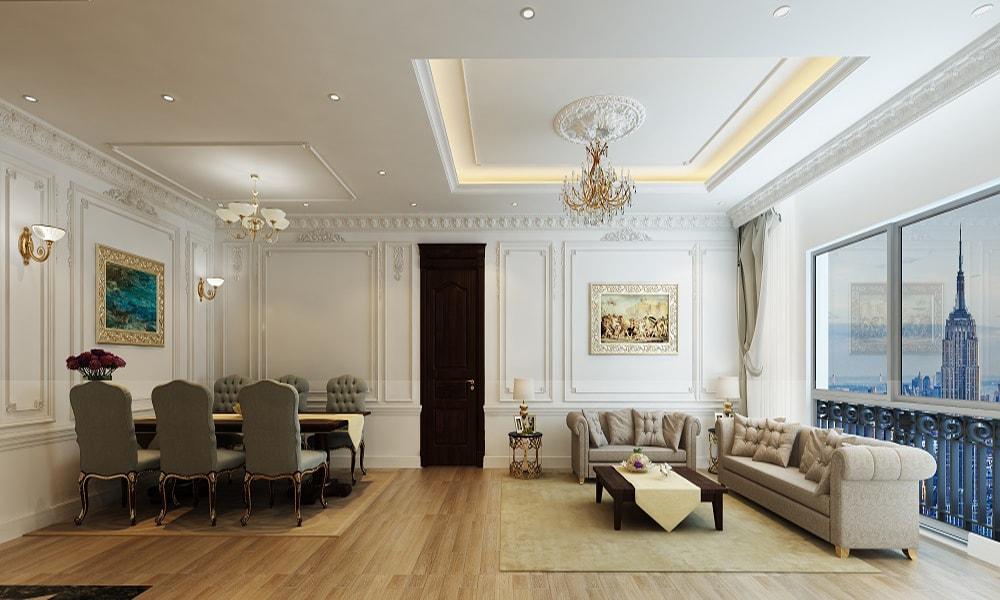 Phòng khách căn hộ The Emerald Mỹ Đình