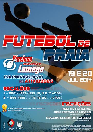 Areal das Piscinas Descobertas de Lamego recebe futebol de praia