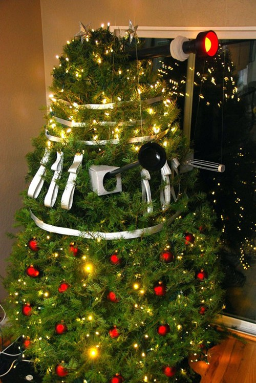 photo of a Dalek Christmas Tree