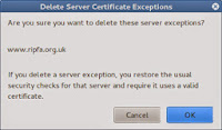 Firefox confirm delete of Firefox SSL exceptions