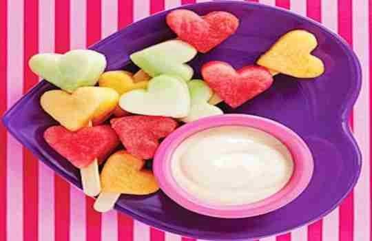Frutas en forma de corazón