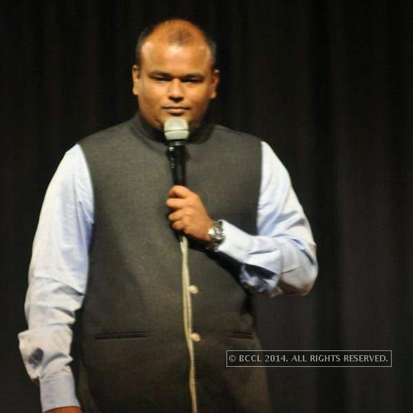 Nishant Joke Singh at Kolkata's Funniest Day, a stand-up comedy event.