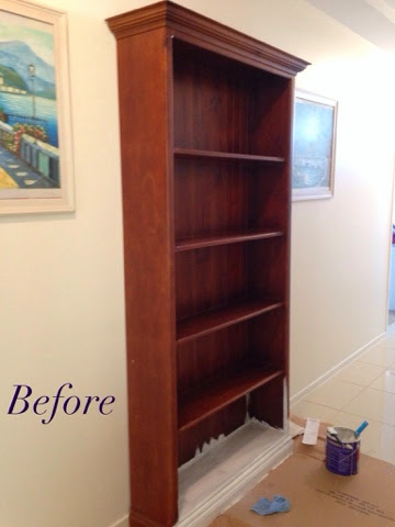 Transforming and Old, Scratched Bookcase