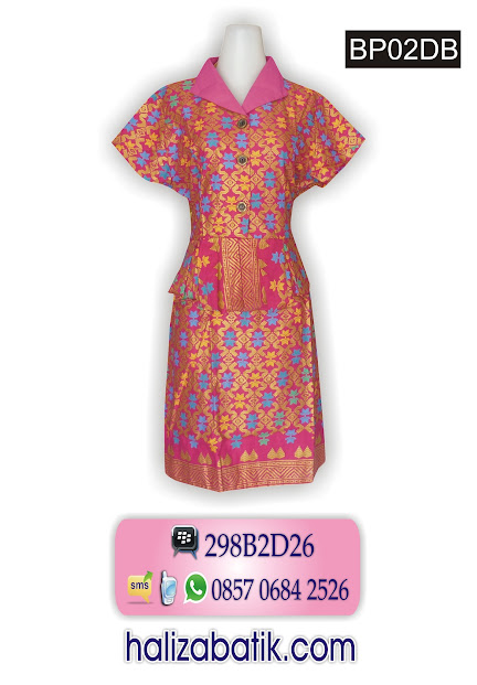 BP02DB Baju Dres, Baju Wanita, Baju Dress Batik, BP02DB