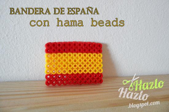 Bandera España hama beads.