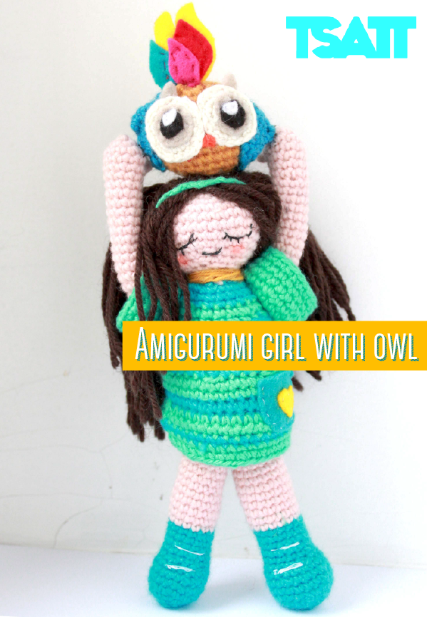 Pattern for the Amigrumi Girl with an Owl.