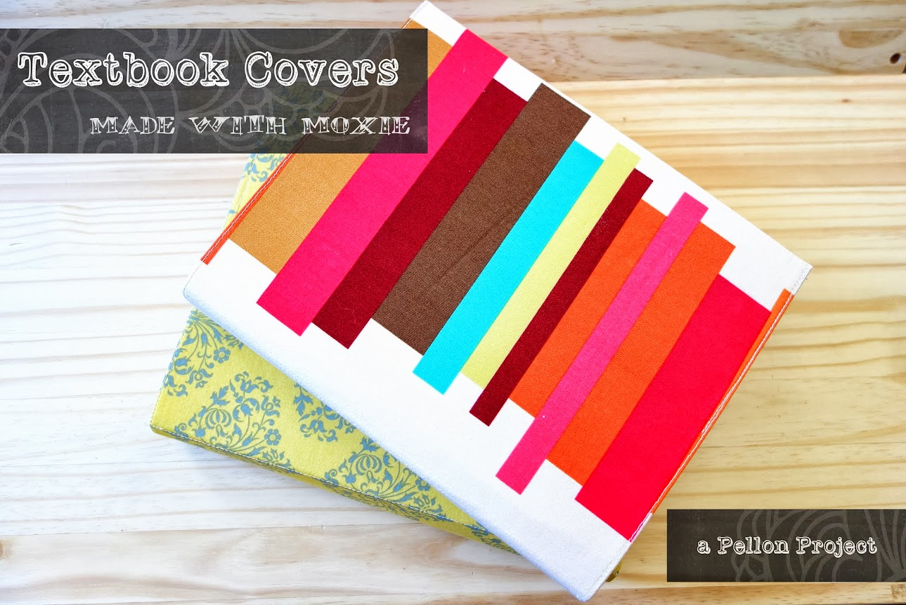 Easy fabric text book covers || Made with Moxie